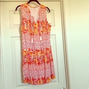 Old Navy floral tropical dress